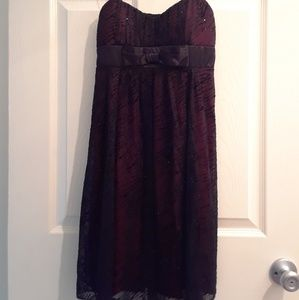 Small Ruby Rox Black and Red Empire Waist Dress